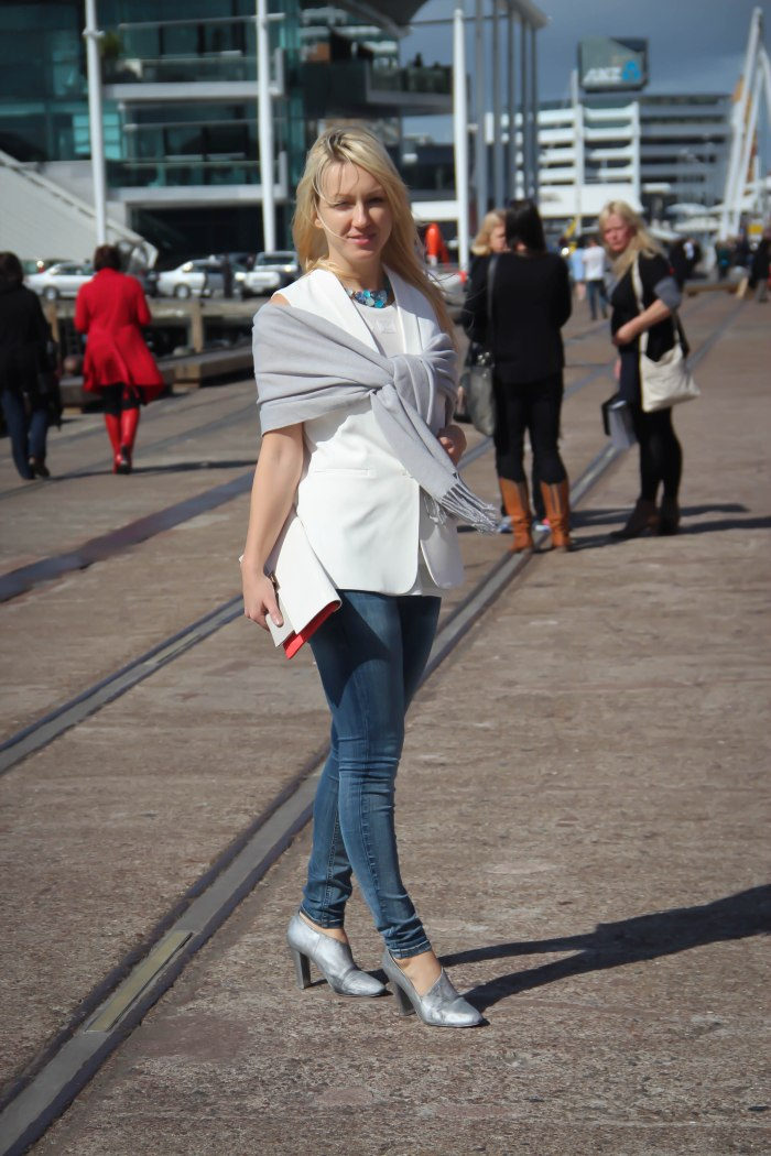 white vest, jeans, scarf, lavender loafers, lavenderloafers, fashion blog, new zealand, fashion week, blogger, fashion,
