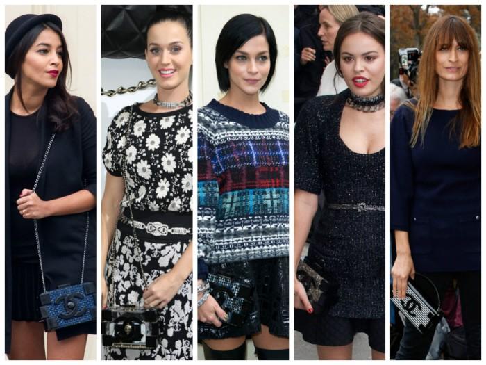 Leila Bekhti, Leigh Lezark, Katty Perry,Atlanta De Cadenet, Caroline de Maigret, Chanel Lego clutch,Celebrities, lavenderloafers, fashion blog,
