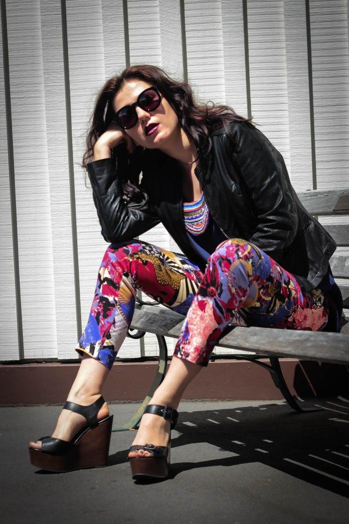 lavender-loafers-floral-pants-leather-jacket-karen-walker-sunglasses-super-duper-fashion-blogger