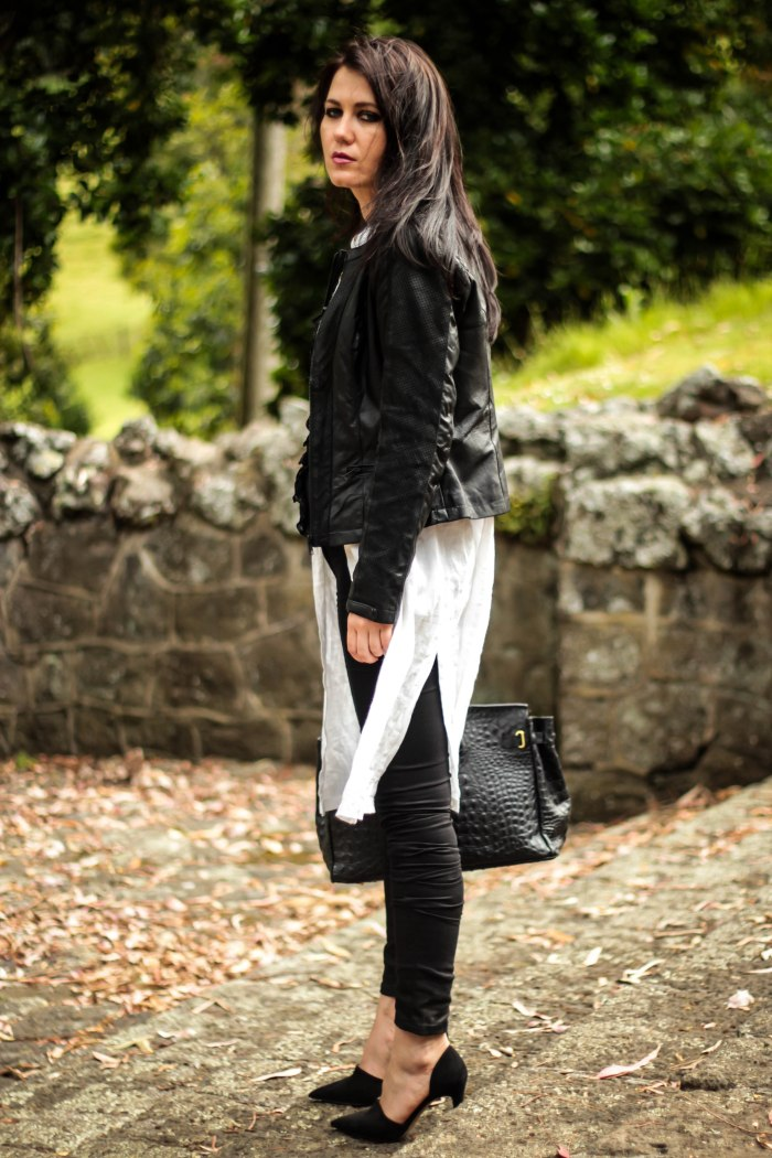 lavender-loafers-blacck-leather-jacket-white-dress-black-denim-zara-shoes-birkin-bag-fashion-blogger