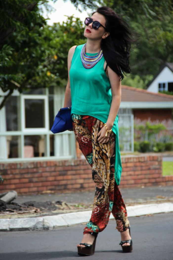 green+summer+silk+top